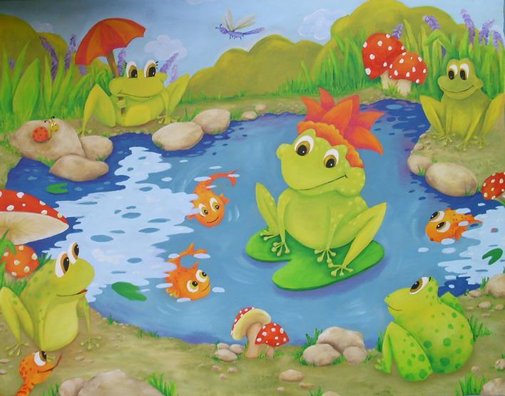 Murales pintados a mano en paredes graffitis arte - Murales infantiles pintados a mano ...